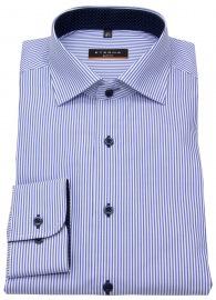 Hemd - Slim Fit - Streifen - blau / weiß