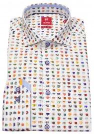 Hemd - Slim Fit - Haikragen - Print - mehrfarbig - ohne OVP