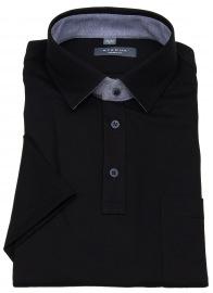 Poloshirt - Modern Fit - Piquée - schwarz