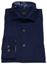 Hemd - Comfort Fit - Patch - dunkelblau - extra langer 68cm Arm