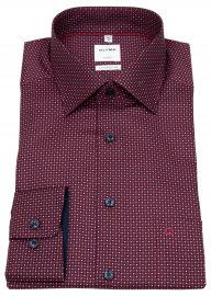 Hemd - Comfort Fit - New Kent - rot / dunkelblau