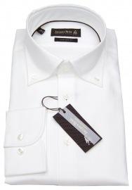 Hemd - Custom Fit - Button Down - Oxford - weiß