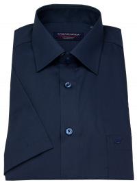 Kurzarmhemd - Modern Fit - dunkelblau