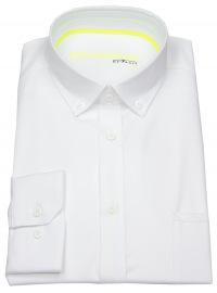 Hemd - Slim Fit - Button Down - Stretch - weiß