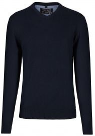 Pullover - V-Ausschnitt - dunkelblau