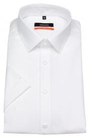 Kurzarmhemd - Slim Fit - Kentkragen - weiß