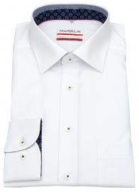 Hemd - Modern Fit - Patch - Kontrastgarn - weiß