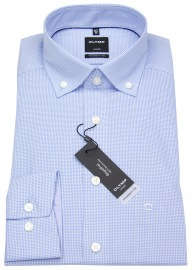 Hemd - Luxor Modern Fit - Button Down - hellblau / weiß