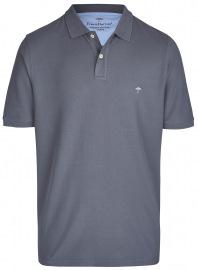 Poloshirt - Casual Fit - Piqué - grau