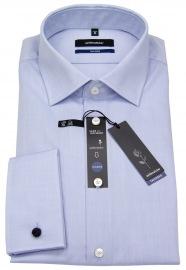 Hemd - Tailored Fit - Umschlagmanschette - hellblau