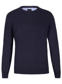 Pullover - Rundhals-Ausschnitt - dunkelblau