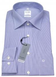 Hemd - Luxor Comfort Fit - weiß / blau fein gestreift