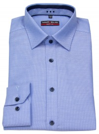Hemd - Body Fit - Patch - Print - hellblau - ohne OVP