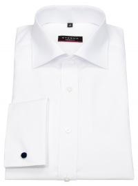 Hemd - Modern Fit - Haikragen - Umschlagmanschette - weiß