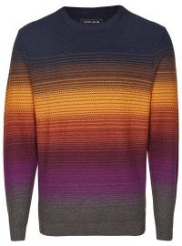 Pullover - Rundhals - Ausschnitt - mehrfarbig gestreift