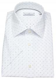 Kurzarmhemd - Modern Fit - Print - weiß / blau - ohne OVP
