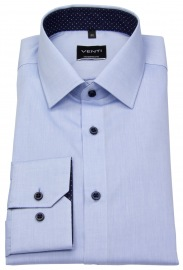 Hemd - Modern Fit - Kontrastknöpfe - hellblau
