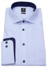 Hemd - Modern Fit - Haikragen - Streifen - hellblau / weiß