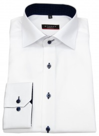 Hemd - Modern Fit - Oxford - Kontrastknöpfe - weiß