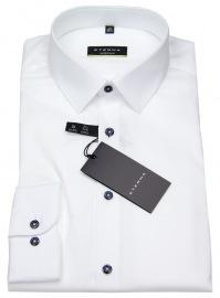 Hemd - Super Slim Fit - Kontrastknöpfe - weiß - ohne OVP