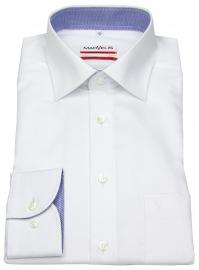 Hemd - Modern Fit - Patch - Struktur - weiß
