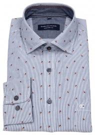 Hemd - Comfort Fit - Streifen - Print - blau