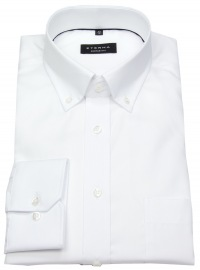 Hemd - Comfort Fit - Button Down - Oxford - weiß