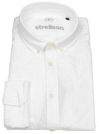 Hemd - Casual Fit - Button Down Kragen - weiß