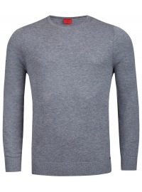Pullover - Level Five - Merinowolle - Rundhals - grau