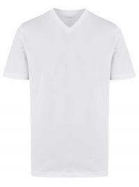 T-Shirt Doppelpack - Modern Fit - V-Ausschnitt - weiß
