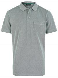 Poloshirt - Regular Fit - Baumwolle - grün meliert
