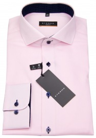 Hemd - Slim Fit - Oxford - Kontrastnähte - rosé