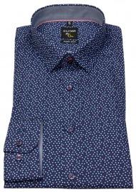 Hemd - No. Six Super Slim Fit - Print - blau / weiß / rot