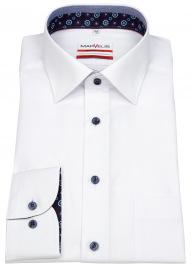 Hemd - Modern Fit - Patch - Kontrastknöpfe - weiß - 69cm Arm