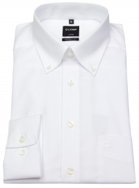 Hemd - Luxor Modern Fit - Button-Down Kragen - weiß