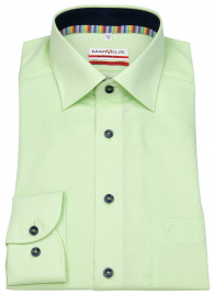 Hemd - Modern Fit - Kontrastknöpfe - fein kariert - hellgrün