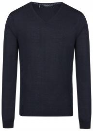 Pullover - Modern Fit - V-Ausschnitt - Navy Blau