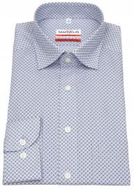 Hemd - Modern Fit - Under Button Down - blau / beige