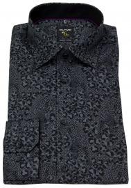 Hemd - No. Six Super Slim Fit - Print - schwarz / grau - ohne OVP