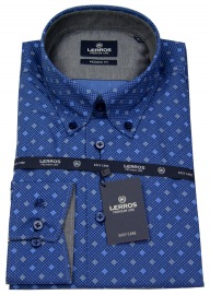 Hemd - Modern Fit - Button Down - Print - blau - ohne OVP
