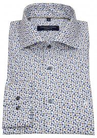 Hemd - Comfort Fit - Print - blau / braun / weiß
