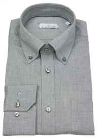 Hemd - Modern Fit - Button Down Kragen - grau