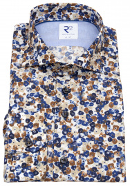 Hemd - Modern Fit - Haifischkragen - floraler Print - mehrfarbig