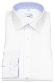 Seidensticker Hemd - Regular Fit - Kentkragen - Patch - weiß