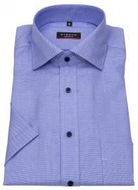 Kurzarmhemd - Modern Fit - feines Muster - blau / weiß