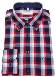 Hemd - Modern Fit - Button Down - mehrfarbig kariert