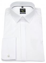 Smokinghemd - No. Six Super Slim - Umschlagmanschette - weiß - ohne OVP