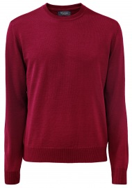 Pullover - Comfort Fit - Rundhals - Merinowolle - vinaceous