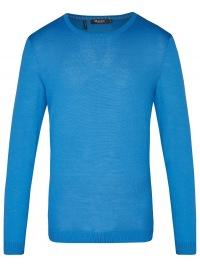 Pullover - Modern Fit - Rundhals-Ausschnitt - blau