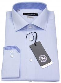 Hemd - Shape Modern Fit - Patch - hellblau - ohne OVP